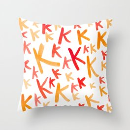Painted K Throw Pillow