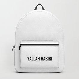 Arabic Yallah-Habibi art work Backpack