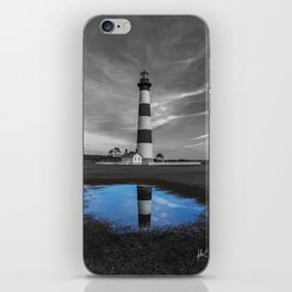 Bodie Island Lighthouse and Puddle iPhone Skin