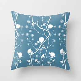 Jenny Chinoiserie Simple on pond Throw Pillow