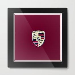 Porsche Automobile Emblem Metal Print
