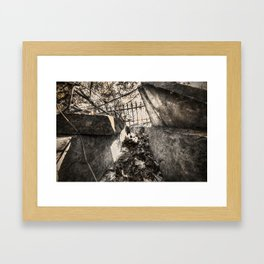 A look inside the Stone Coffin Framed Art Print