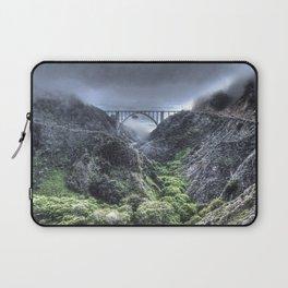 Bixby Bridge Through the Fog and Dale Laptop Sleeve