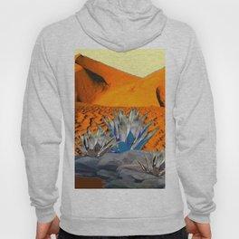 BLUE AGAVE DESERT LANDSCAPE CACTUS ART Hoody