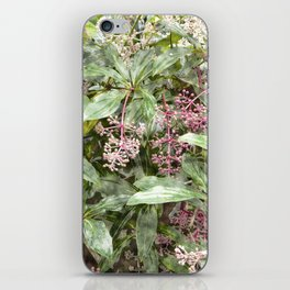 Nature wallpaper, leaves and flowers iPhone Skin