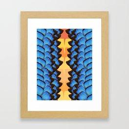 vertical morpho Framed Art Print