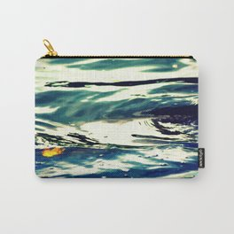 Swirls Of Blue Carry-All Pouch