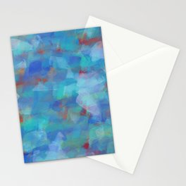 Paint Strokes Two Stationery Cards