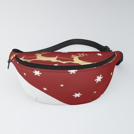 Red Christmas Santa Claus Fanny Pack