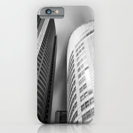 Curved towering skyscrapers at Aurora Place in Sydney iPhone Case