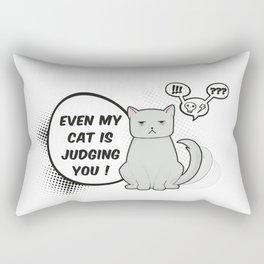 Even my cat is judging you Rectangular Pillow