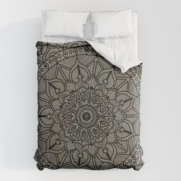 Circle of Life Mandala Brown and Blue Comforters