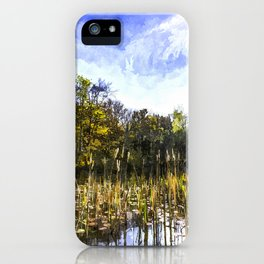 The Bulrush Pond Art iPhone Case