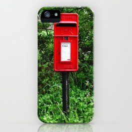Red UK Letterbox Painting iPhone Case