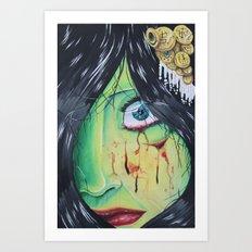 The accident  Art Print