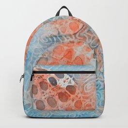 Tangle Mixed Media Petal Design  Backpack