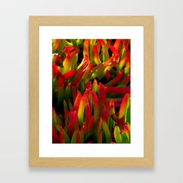 colorful plant Framed Art Print