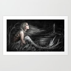 Mermaid at Midnight Art Print