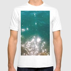 The color of the sea Mens Fitted Tee White MEDIUM