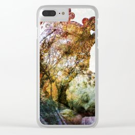 Statue / Double Exposure / 2 Clear iPhone Case