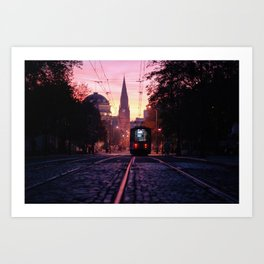 Sunrise Commute Art Print