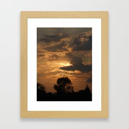 Sunset with Trees Framed Art Print