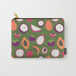 Green tropical fruits pattern Carry-All Pouch