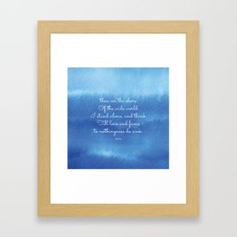 then on the shore of the wide world I stand alone - Keats Framed Art Print