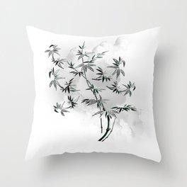 Bambuszweig - bamboo branch Throw Pillow