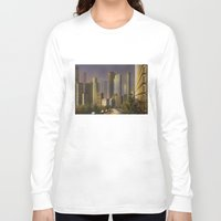 cityscape Long Sleeve T-shirts featuring Cityscape by Viggart