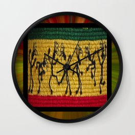 lively up reggae dancers Wall Clock