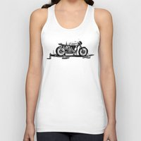 cafe racer Tank Tops featuring Beer Savage Vintage Norton Cafe Racer by TCORNELIUS