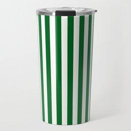 Team Colors 4... green , white Travel Mug