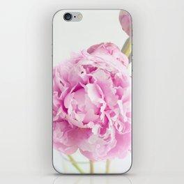 Fine Art Pink Peony Photography, Flower iPhone Skin