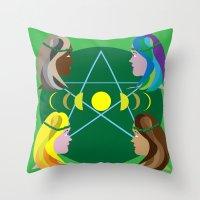 goddess Throw Pillows featuring Goddess by Watch House Design