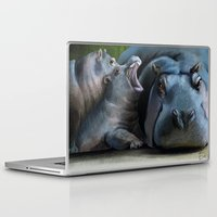 hippo Laptop & iPad Skins featuring Hippo by Elena Napoli