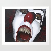 pennywise Art Prints featuring Pennywise by Kristen Champion
