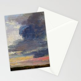 Johan Christian Dahl - Cloud Study Over Flat Landscape - Digital Remastered Edition Stationery Cards