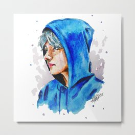 Taehyung watercolor BTS Metal Print