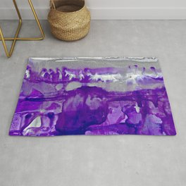 Winter in Purple and Silver Rug