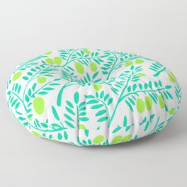 Olive Branches – Turquoise & Lime Palette Floor Pillow