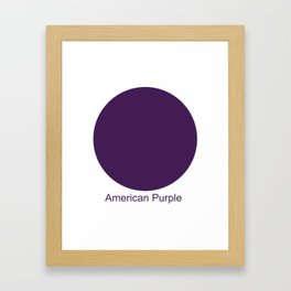 American Purple Framed Art Print