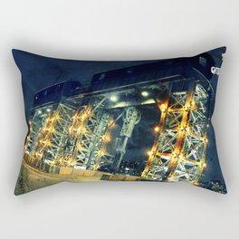 gantry at night Rectangular Pillow