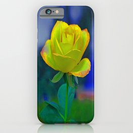 Yellow Colorful Rose iPhone Case