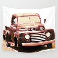 truck Wall Tapestries featuring Old Truck by Regan's World