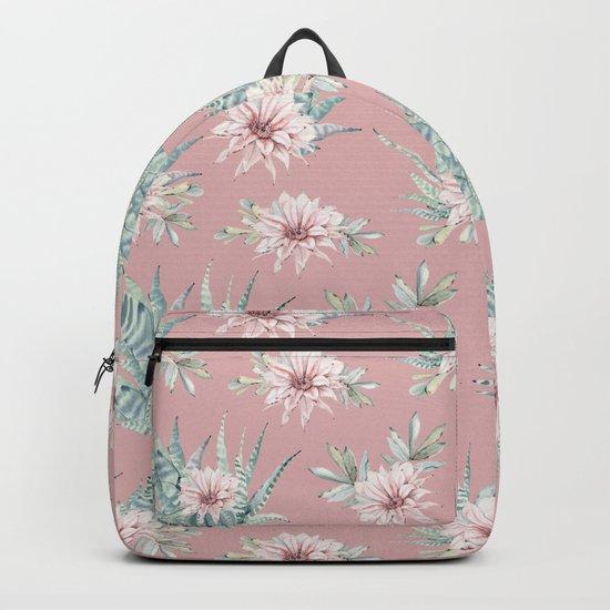 Echeveria Garden Roses Coral Rose Pink Backpack