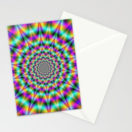 Psychedelic Color Explosion Stationery Cards
