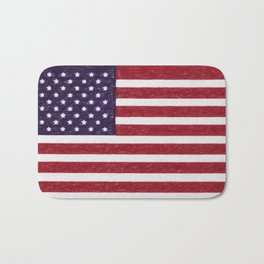 USA flag - in Crayon Bath Mat