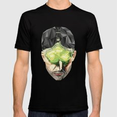Triangles Video Games Heroes - Sam Fisher SMALL Black Mens Fitted Tee