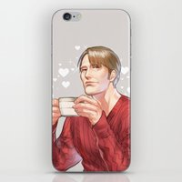 hannibal iPhone & iPod Skins featuring Hannibal by Drag Me To Work
